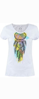 Women's White Burning Man Dream T-Shirt