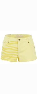 Women's Yellow Rockstar Boyfriend Shorts