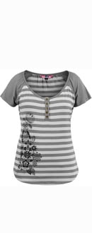 Womens Belle Gargoyle Grey T-Shirt